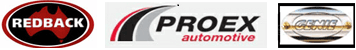 redback proex automotive logo